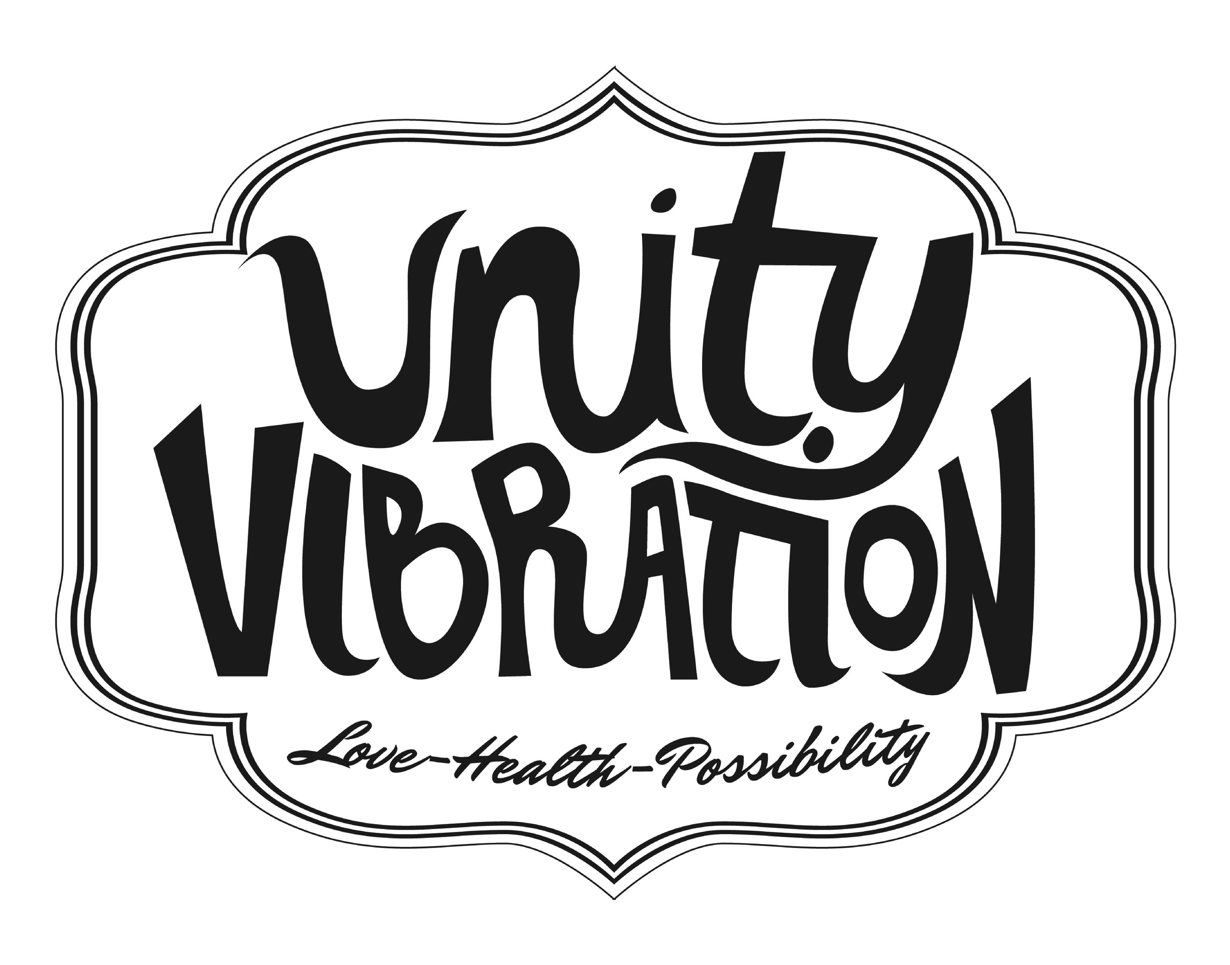 Unity Vibration logo. Links to Unity Vibration website.