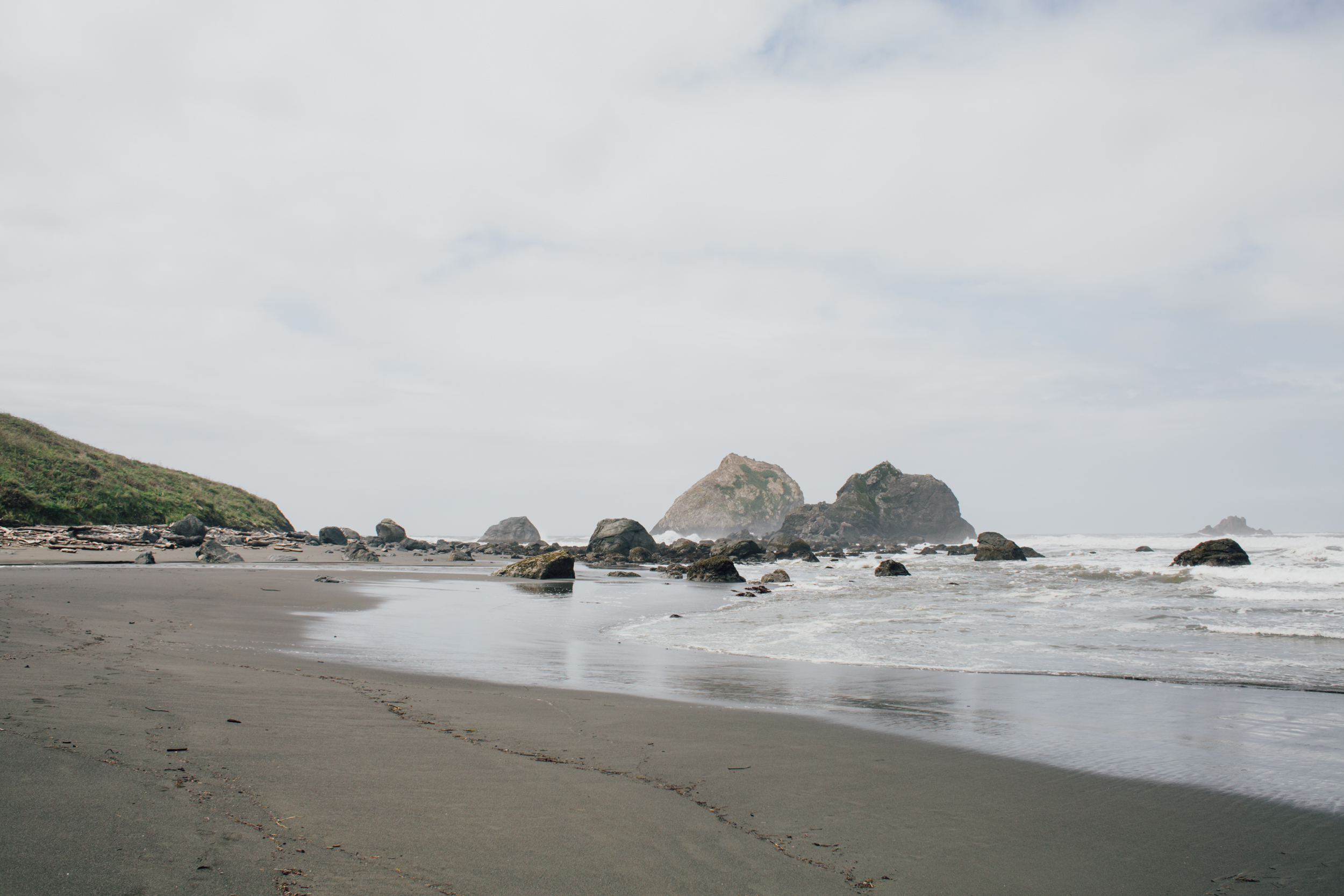 Ocean on one side…