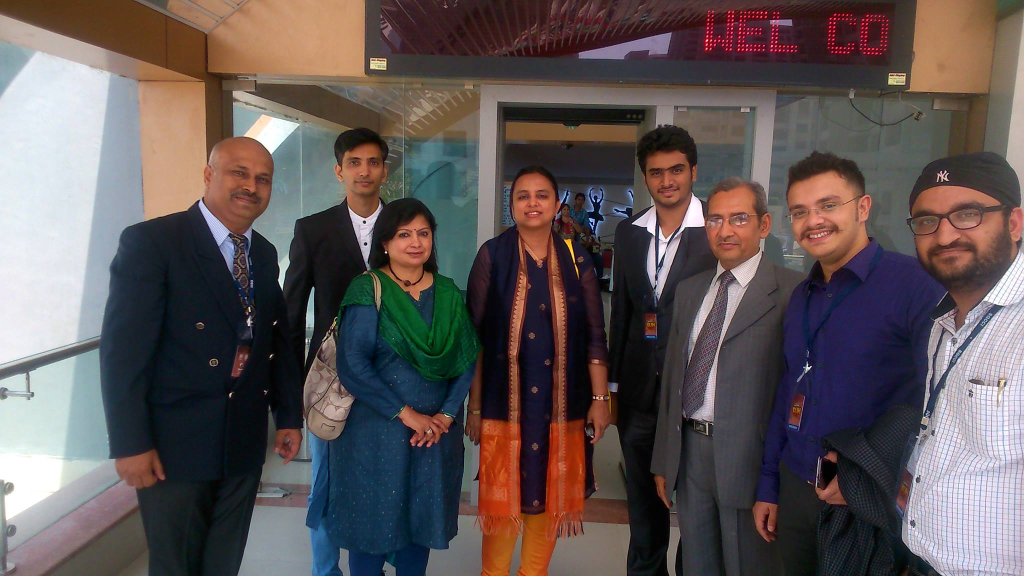 National Youth Conclave(NYC) committee members with writer  Rashmi Bansal