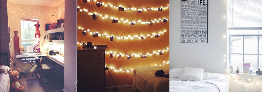The first two image is from my freshmen year (2012), and the last image is my room now (2017).