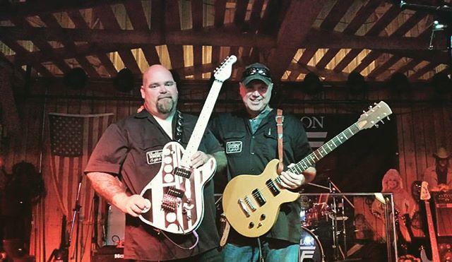 Les and Mike with their Paul Dean guitars! 😊 #vanwaylon #pauldeanguitars