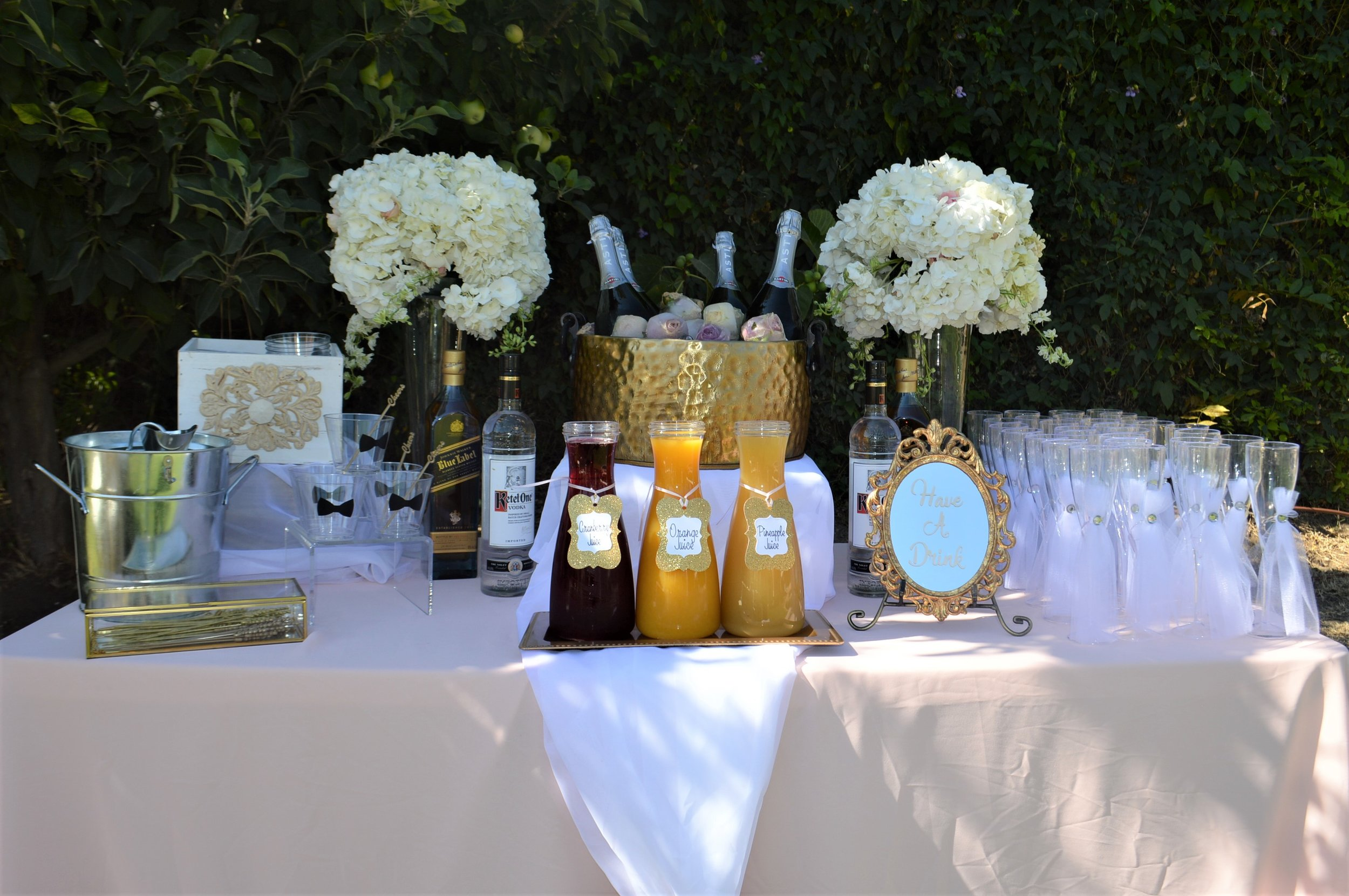 Wedding Champagne Table