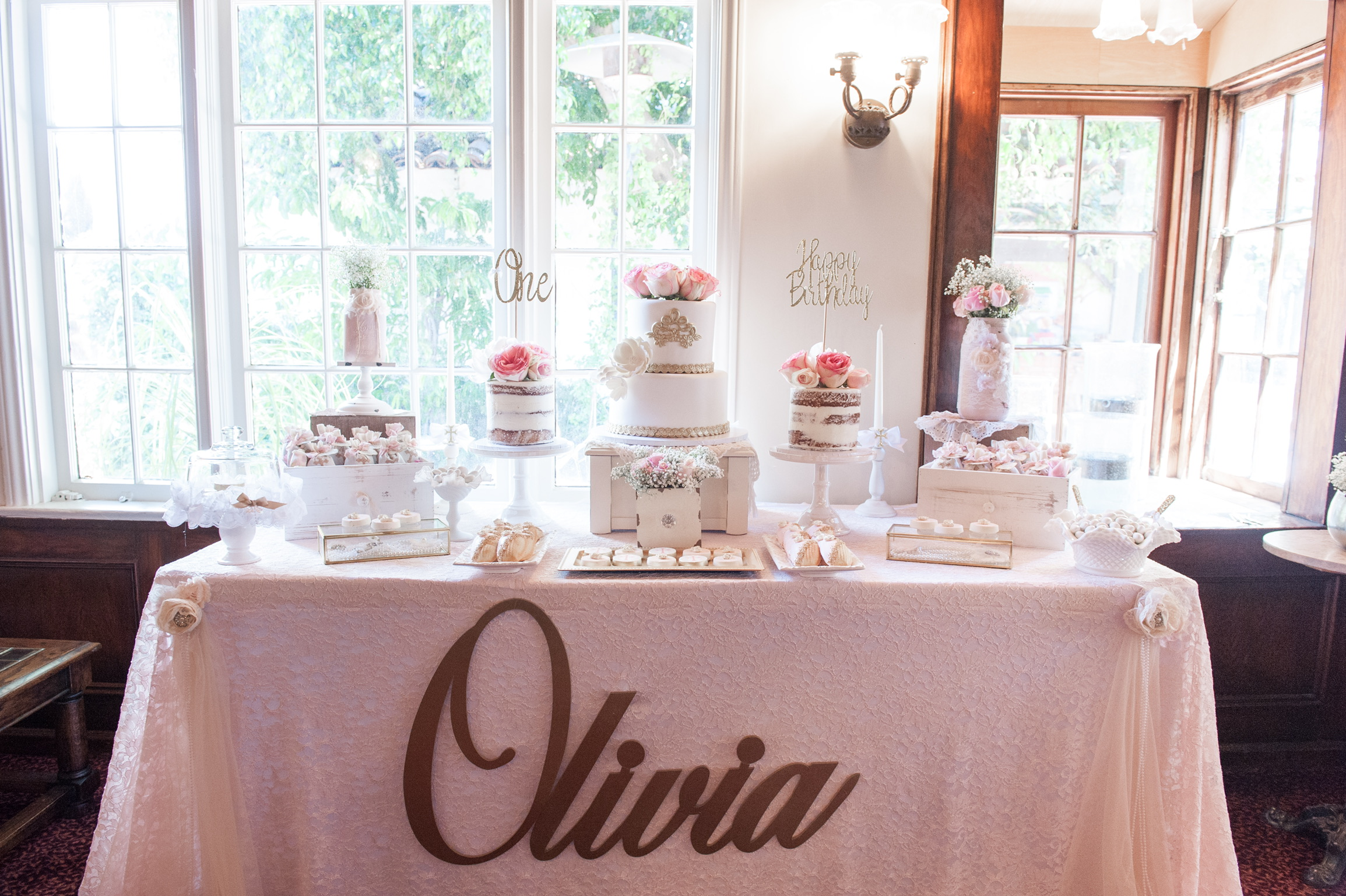 Olivias Shabby chic first birthday