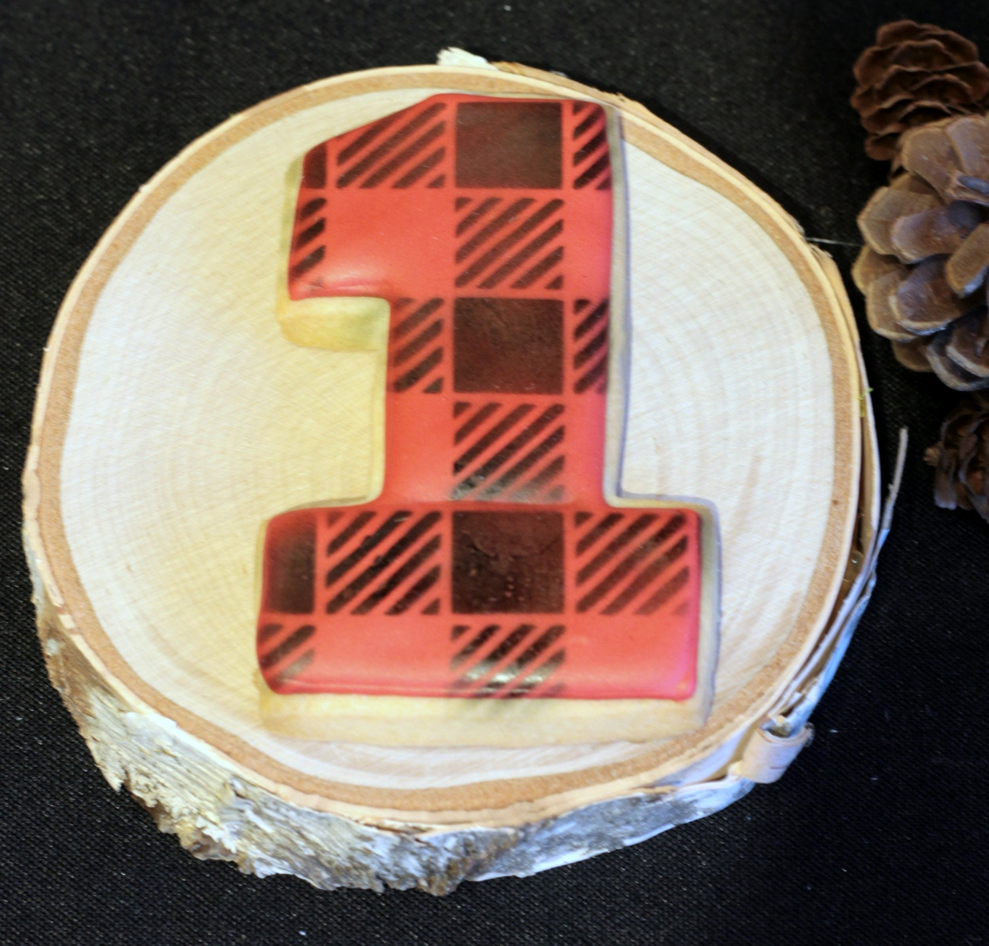 plaid cookie-first birthday-one cookie-www.SugarPartiesLA.com.jpg