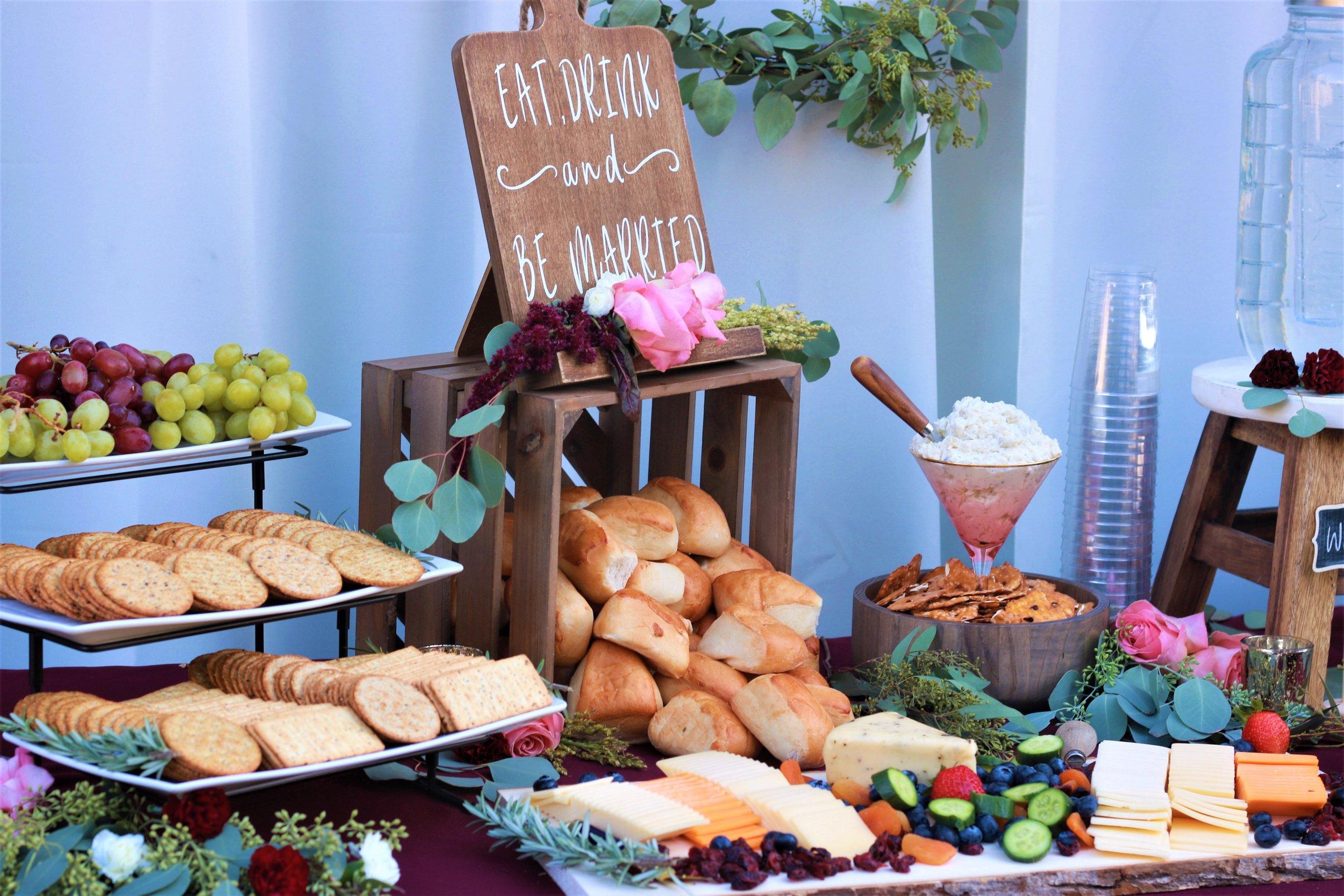Fall Wedding Food-wedding appetizers-wedding-Eat and Drink and Be Married-wedding food table-burgundy wedding-wedding ideas-www.SugarPartiesLA.com