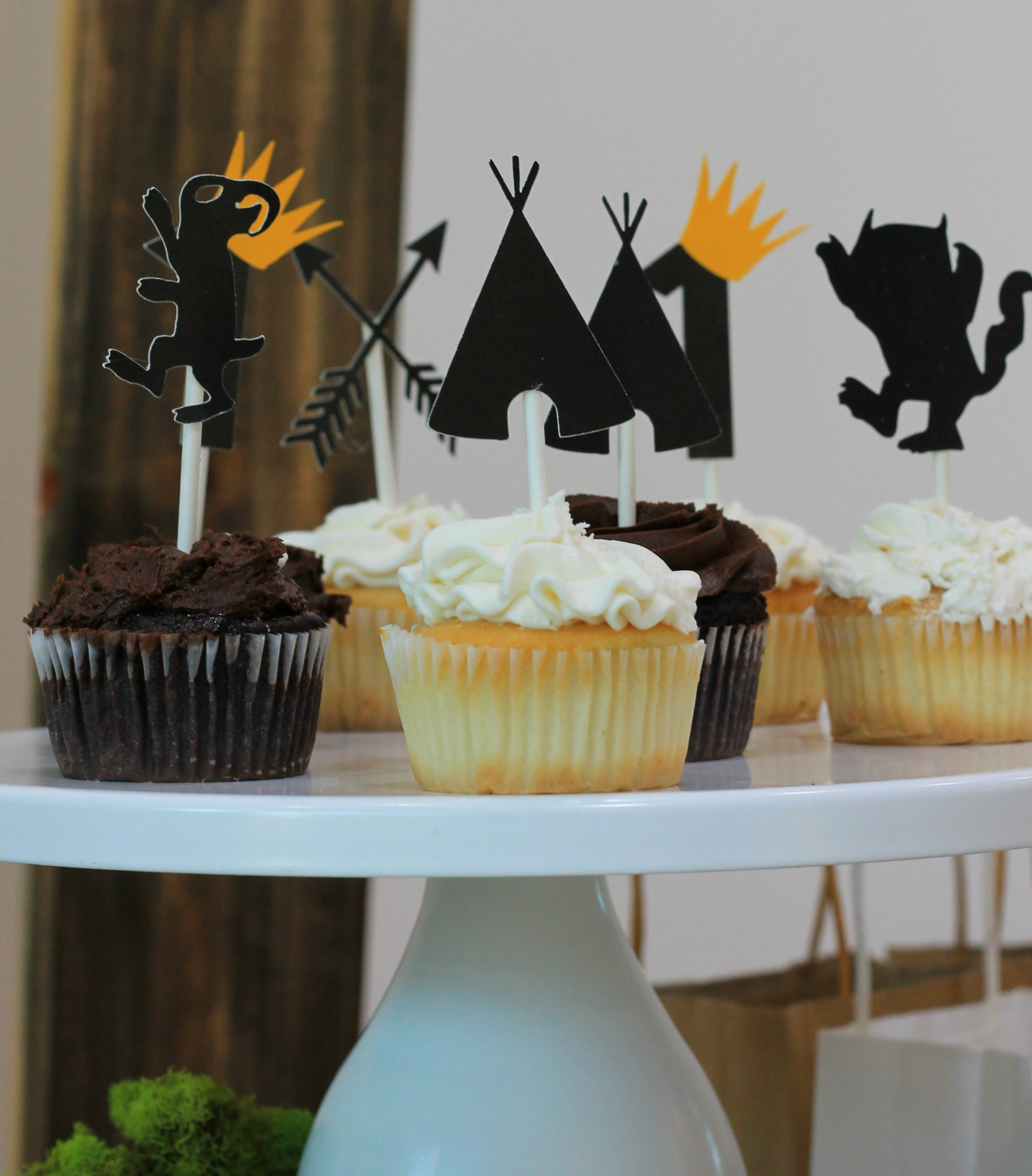 Wild One cupcakes-wild one dessert ideas-wild one birthday-wild one party ideas-wild one dessert table-wild one first birthday-wild one cupcake toppers-www.SugarPartiesLA.com.jpg