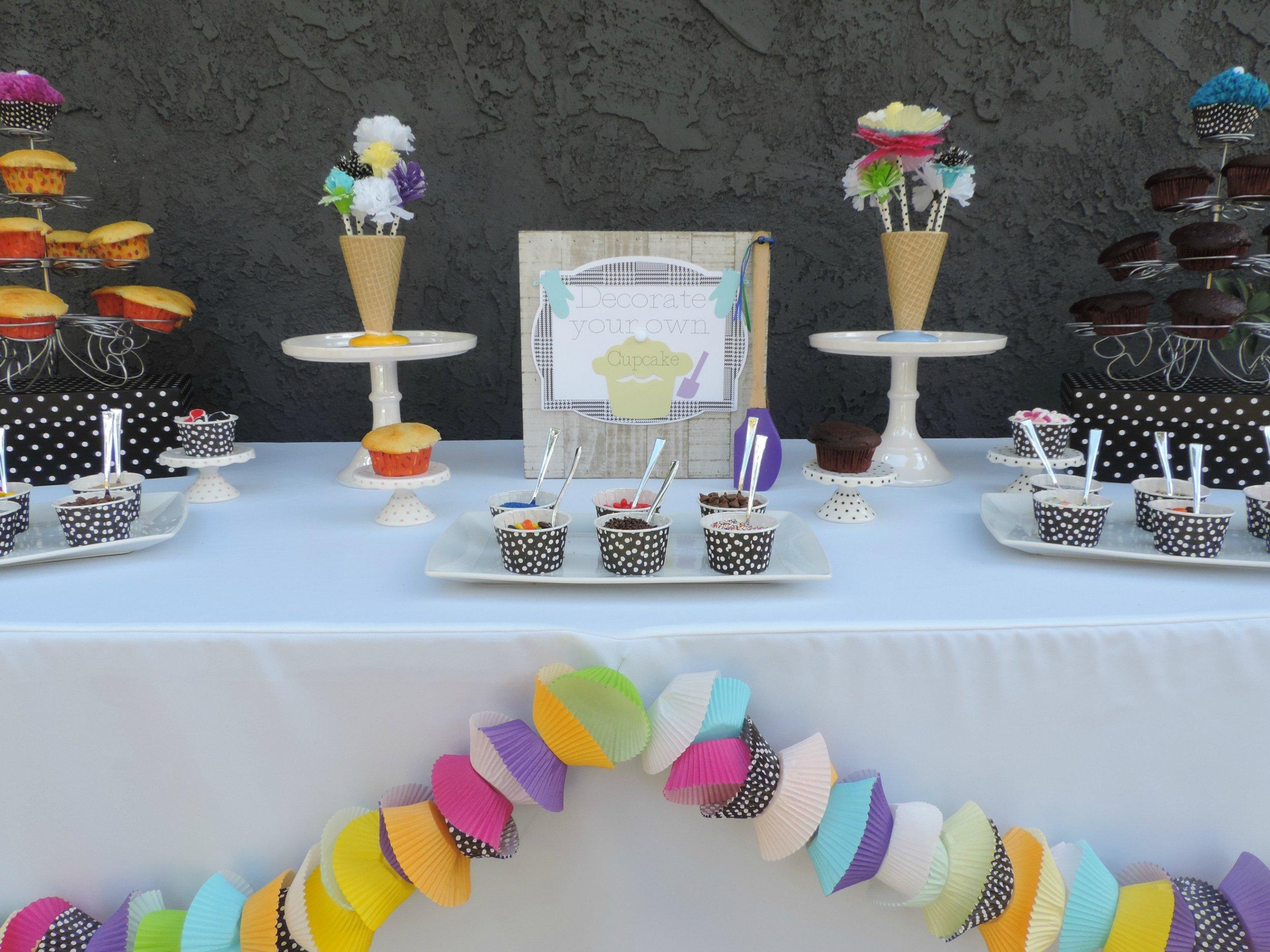 Cupcake wrapper garland-cupcake wars birthday-cupcake decorating party-cupcake party-cupcake party decor-cupcake decorating party ideas-www.SugarPartiesLA.com.jpg