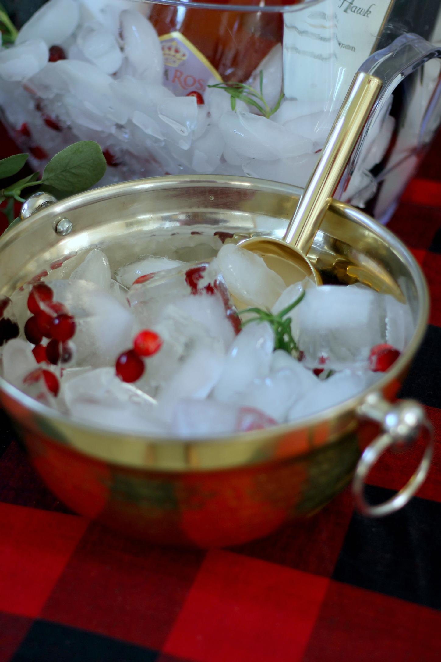 Red Gingham-Christmas Party-Holiday Drinks-party ice tray-christmas party ideas-christmas party decor-christmas -buffalo plaid-www.SugarPartiesLA.com.jpg