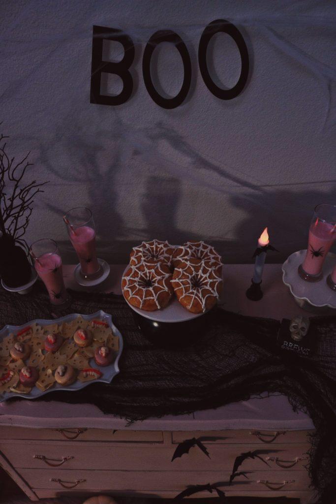 BOO-Boo Banner-Pink Dresser-Pink Halloween Ideas-Crow-and-Skulls-Pink Halloween-Halloween Dessert Ideas-Halloween Pink Decor-Halloween Party Ideas-Halloween Dessert Table-www.SugarPartiesLA.com