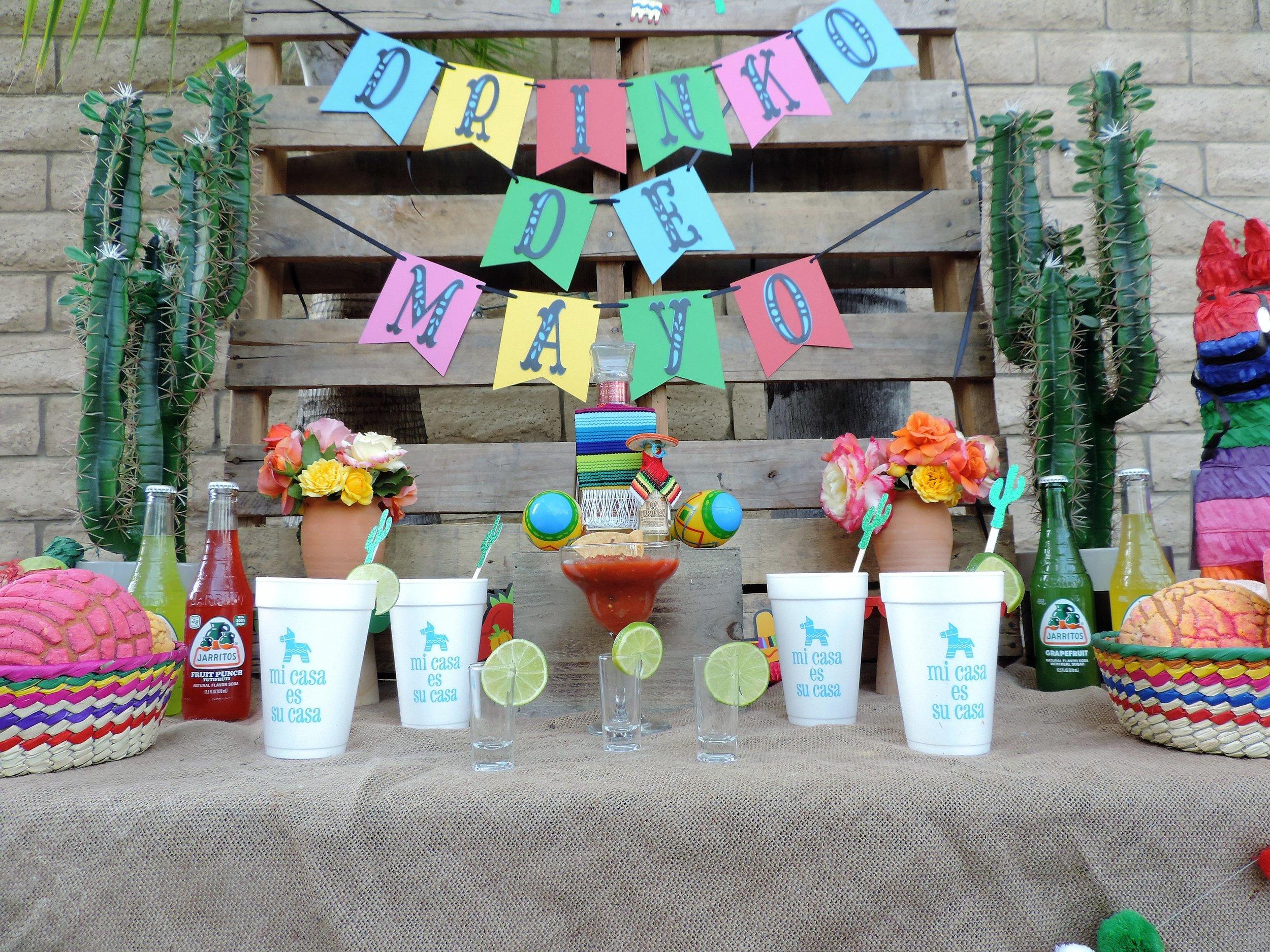 Cinco De Mayo Drink-Tequila Party Table-Cinco De Mayo Party-Tequila Party-Fiesta Party-Fiesta Drink Table-Tequila Party Ideas-Drinko De Mayo-Cinco De Mayo Party Idea-Mexican Theme Party-Fiesta-Cinco De Mayo Party Ideas and Decor-Taco Party-www.SugarPartiesLA.com