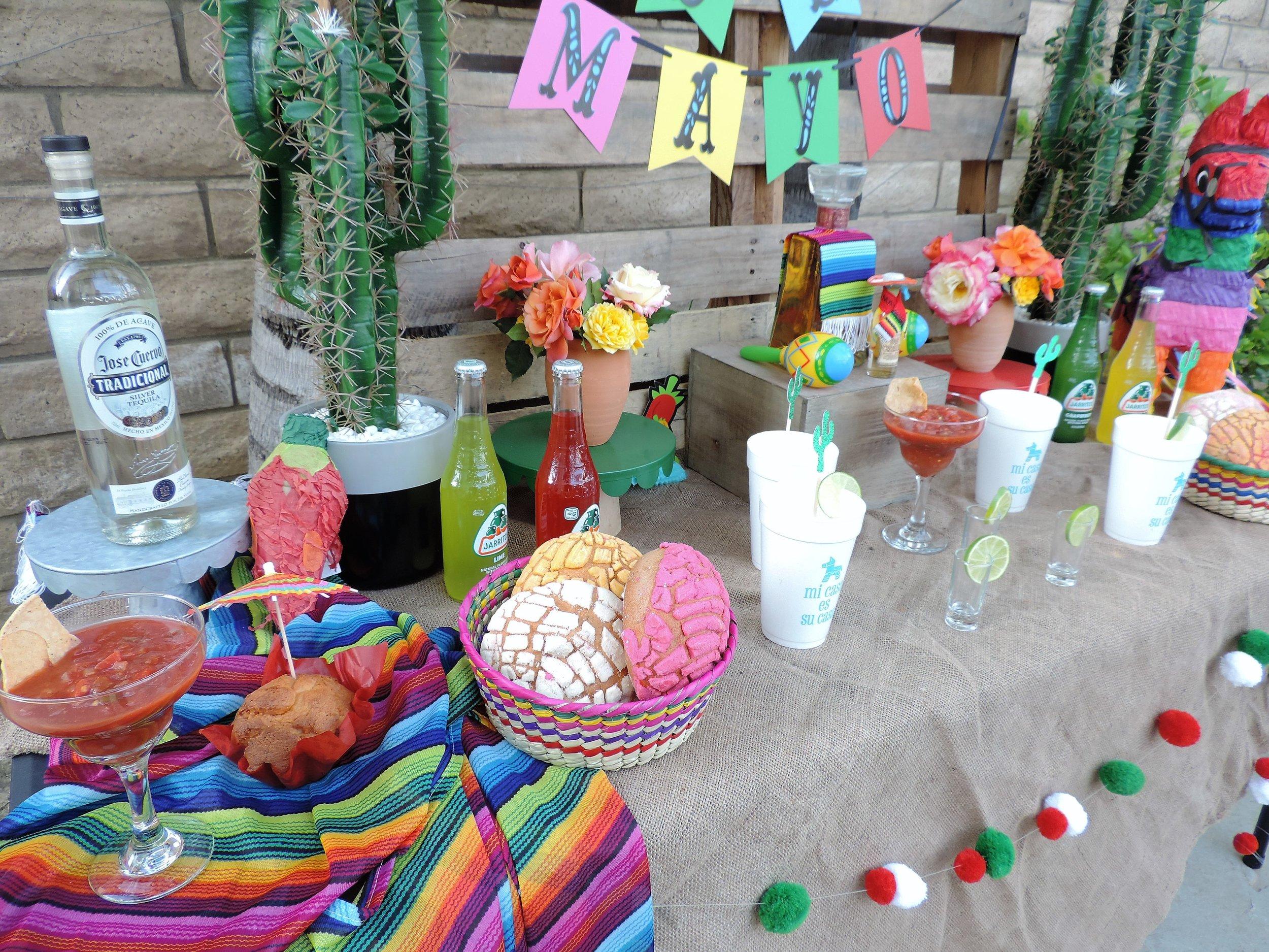 Fiesta Party Decor.-Tequila Party Table-Cinco De Mayo Party-Tequila Party-Fiesta Party-Fiesta Drink Table-Tequila Party Ideas-Drinko De Mayo-Cinco De Mayo Party Idea-Mexican Theme Party-Fiesta-Cinco De Mayo Party Ideas and Decor-Taco Party-www.SugarPartiesLA.com