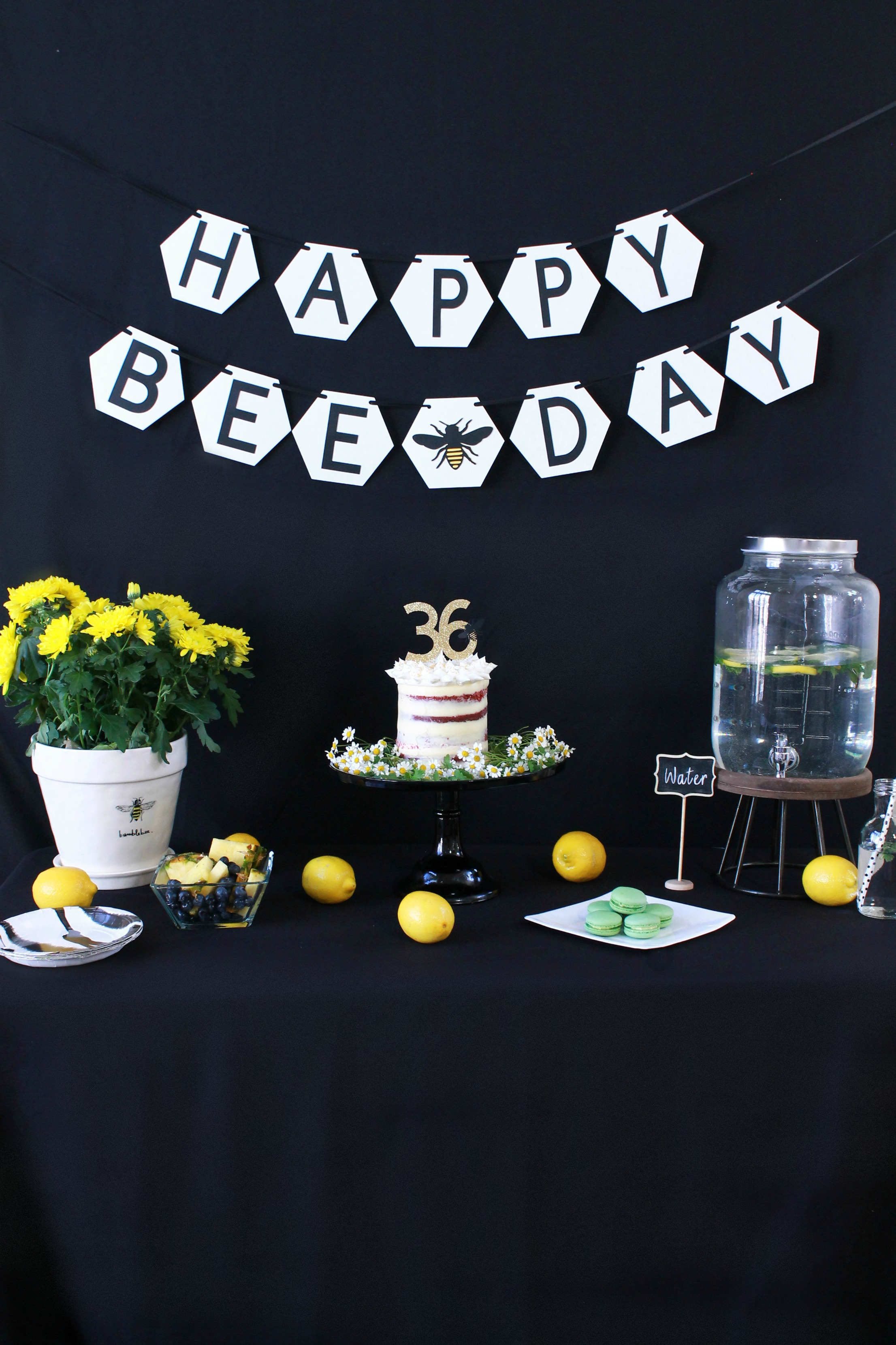 Happy Bee Day-bee birthday-spring birthday-bee birthday party-bee banner-www.SugarPartiesLA.com.jpg
