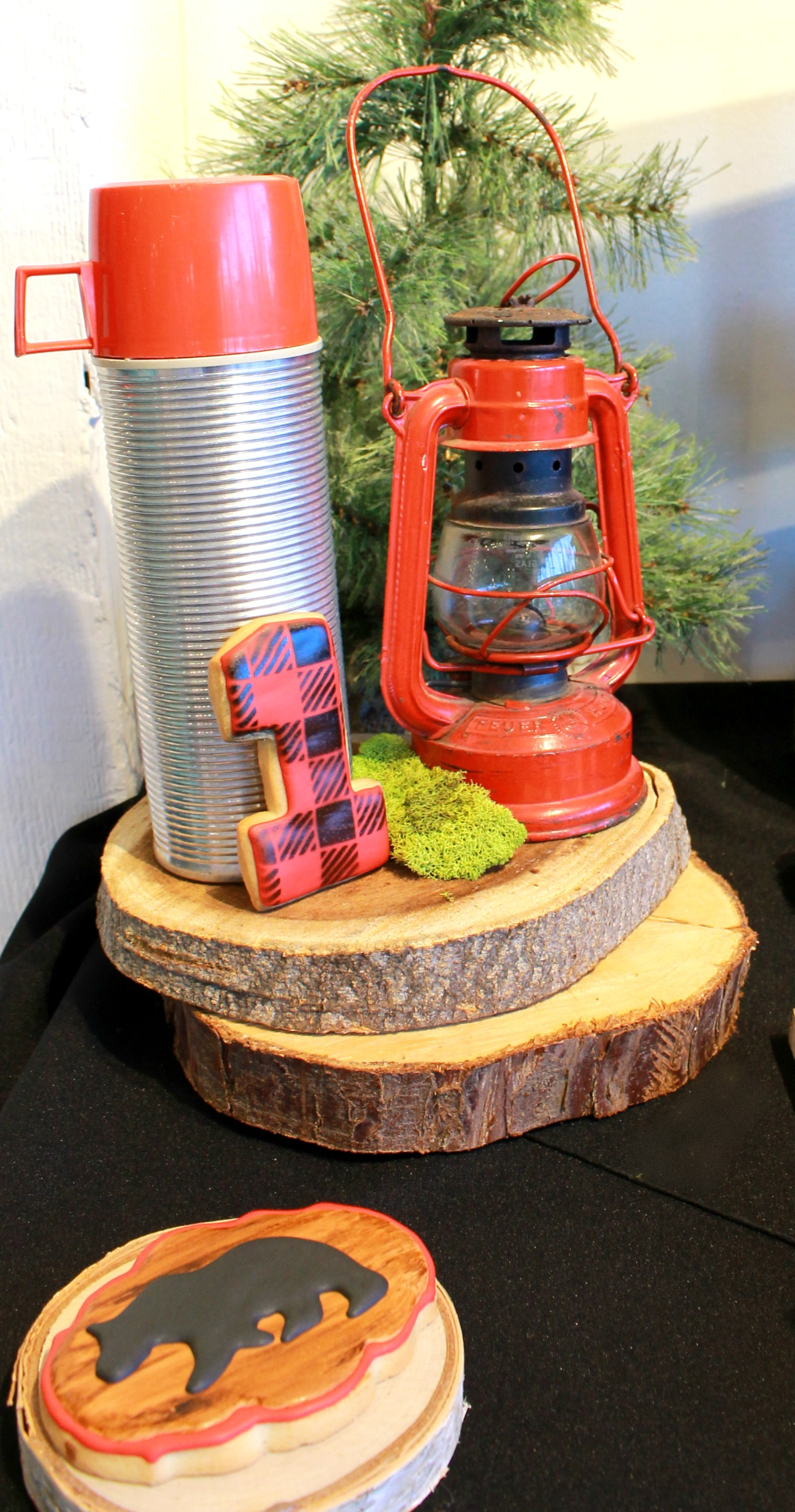 Vintage Lantern-Plaid Cookies-LumberJack Birthday-First Birthday Party-LumberJack first Birthday Party-Birthday Party Ideas-www.SugarPartiesLA.com.jpg
