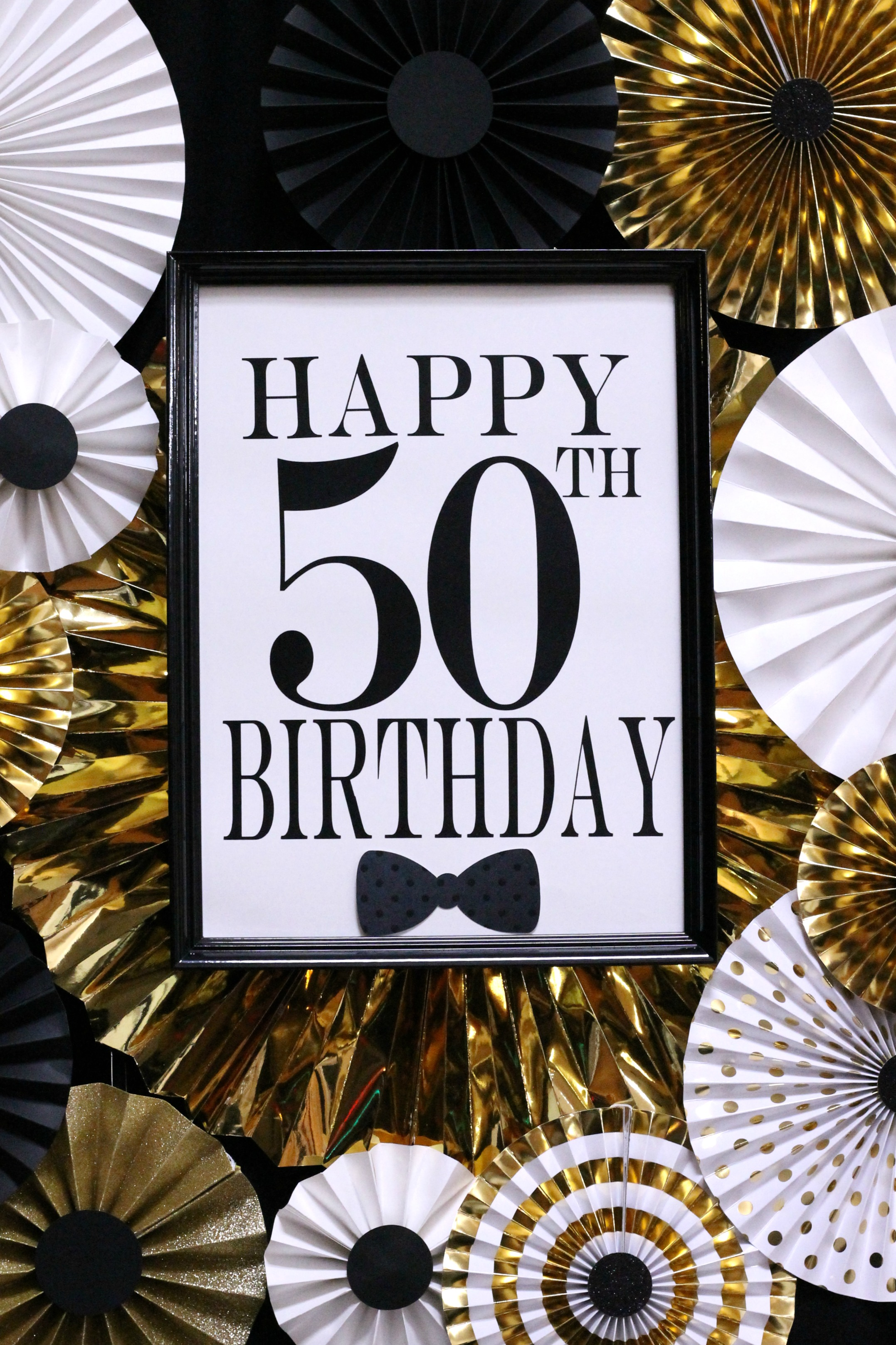 50th Birthday-black,gold and white party,50th party ideas,Happy 50th Birthday.jpg