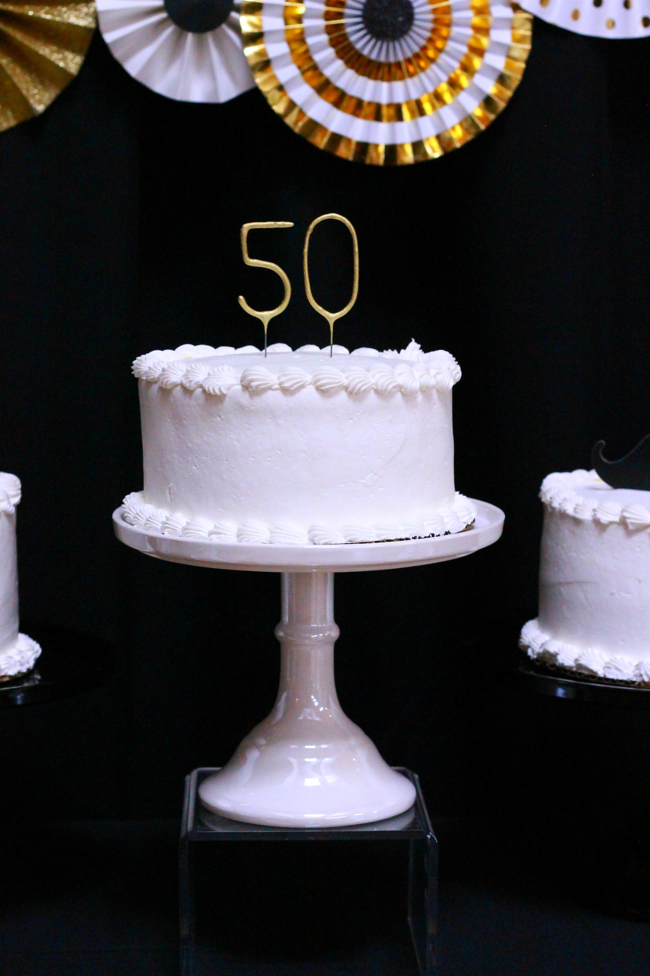 50th Birthday-black,gold and white party,50th party ideas,Happy 50th Birthday,birthday cake