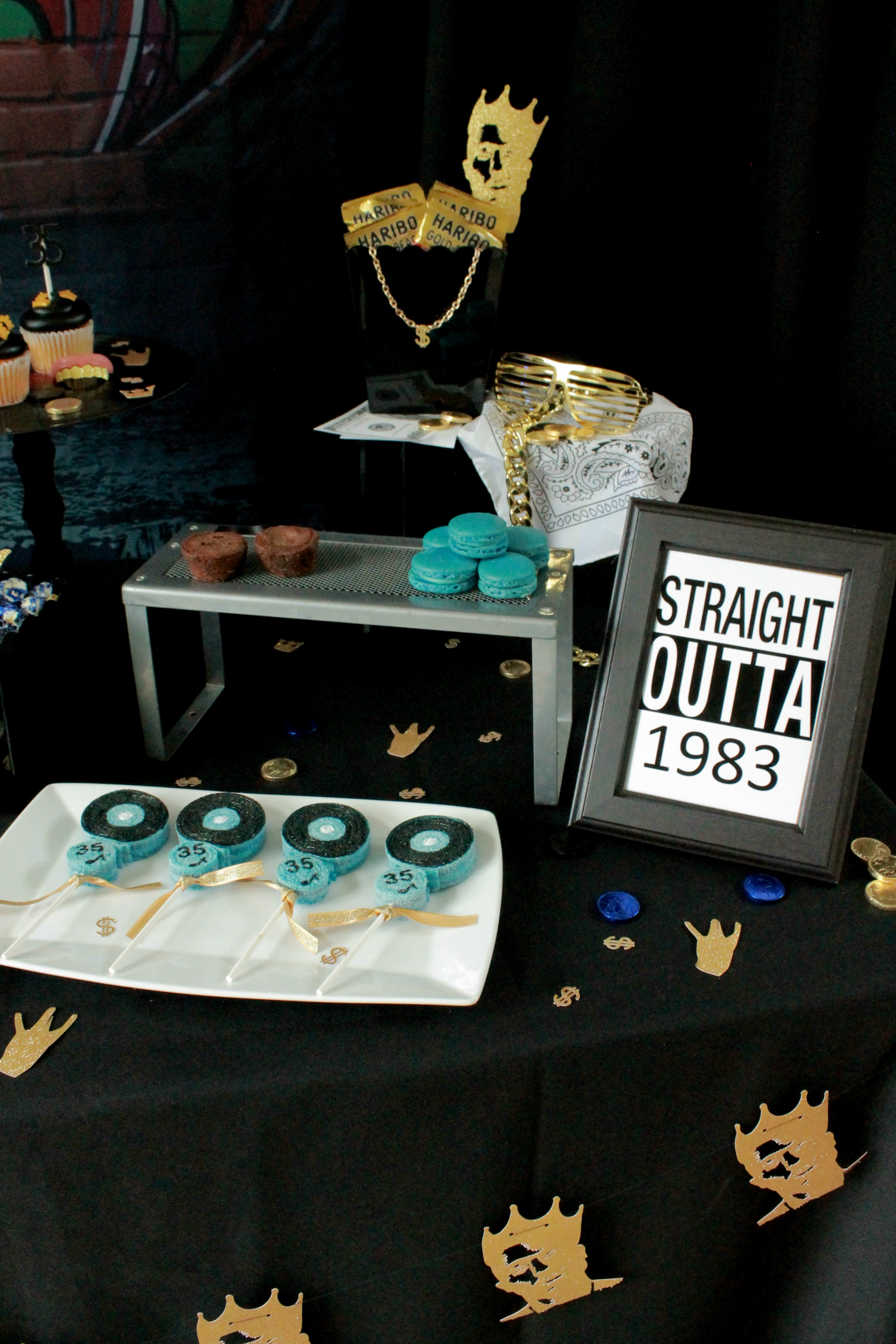 HipHop candy table-90's party-90's music party-www.SugarPartiesLA.com.jpg