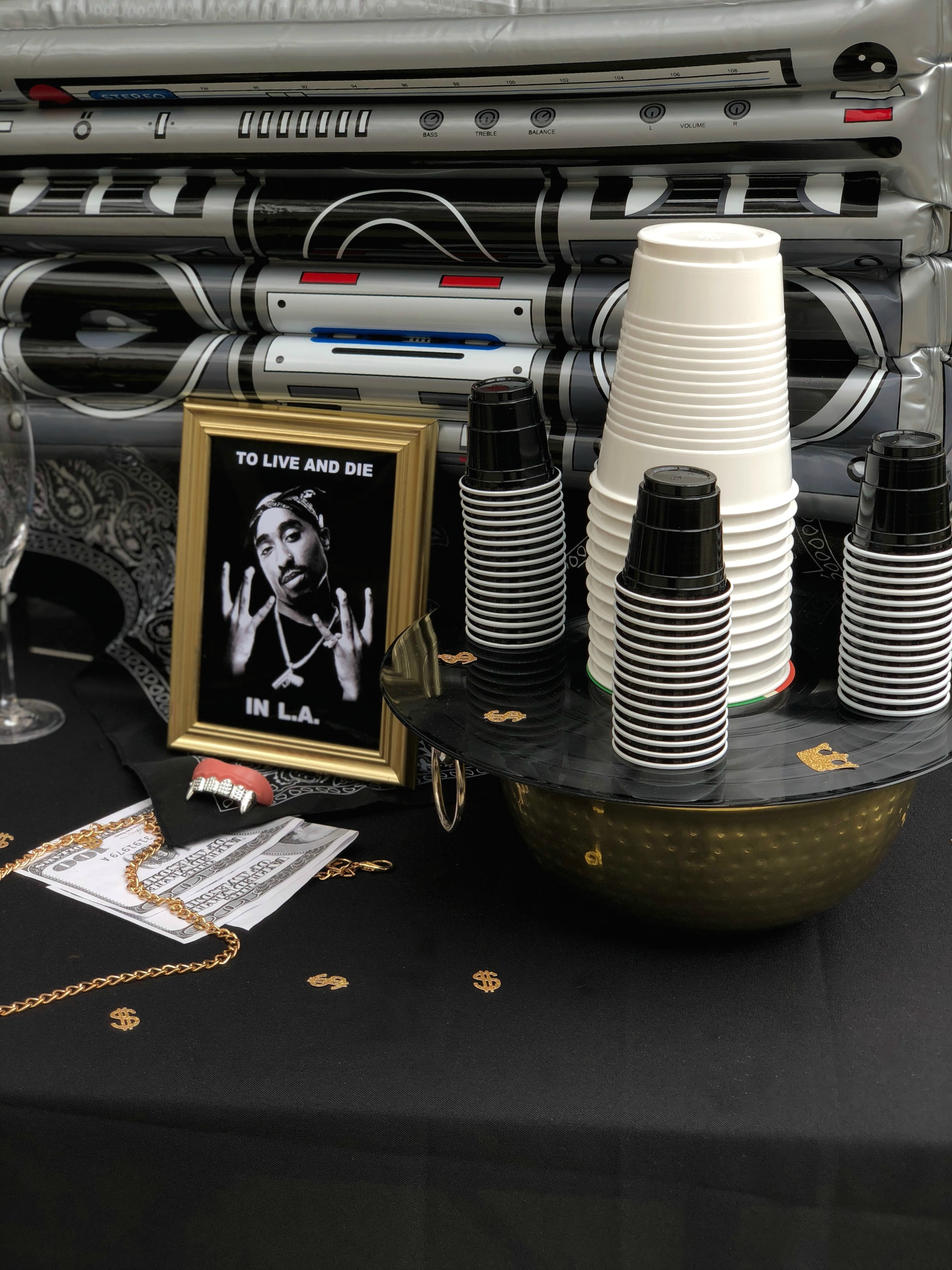 HipHop drink table-90's Party Ideas-www.SugarPartiesLA.com.jpg