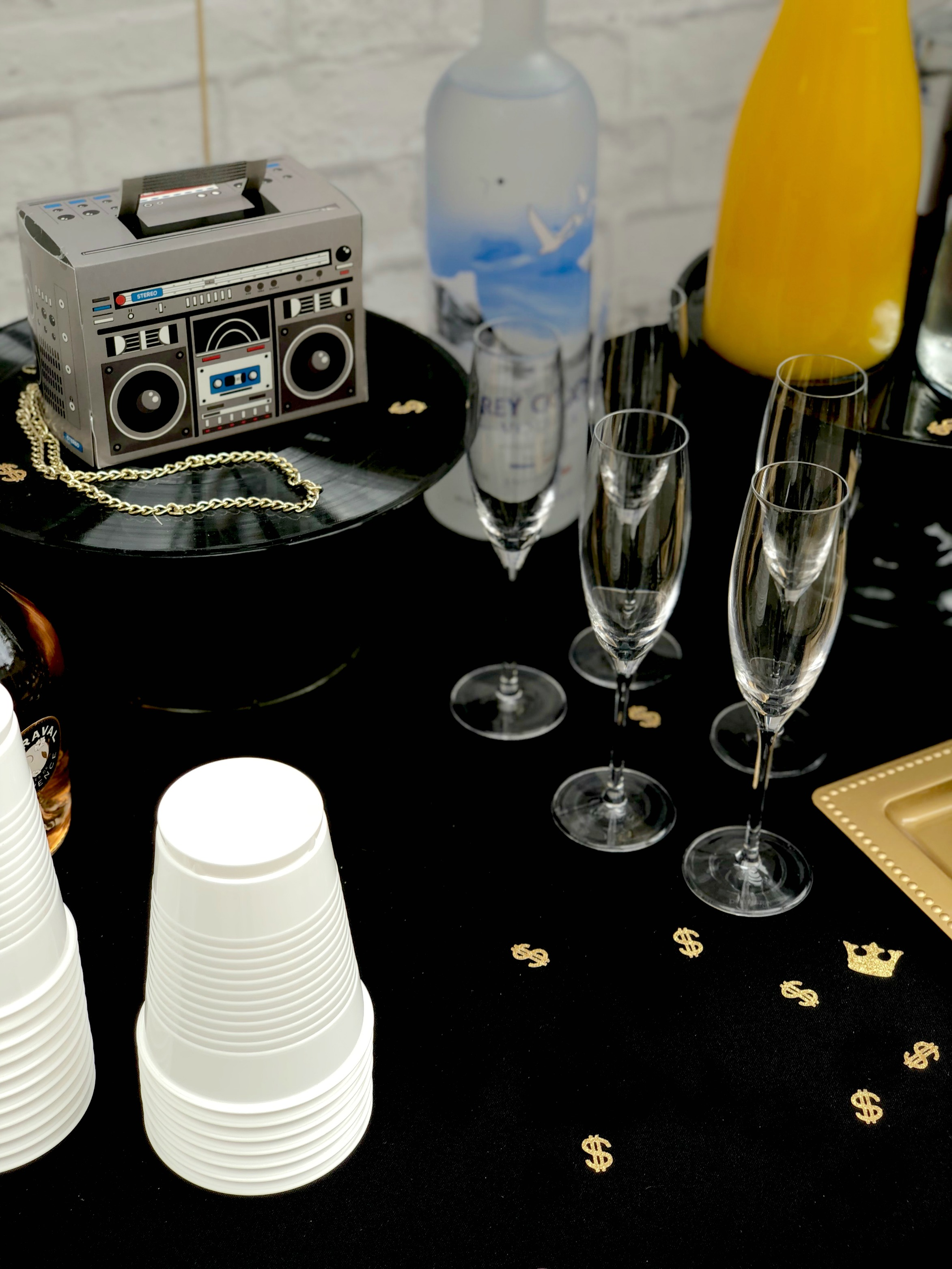 HipHop Drinks Table-90's Party Ideas-www.SugarPartiesLA.com.jpg