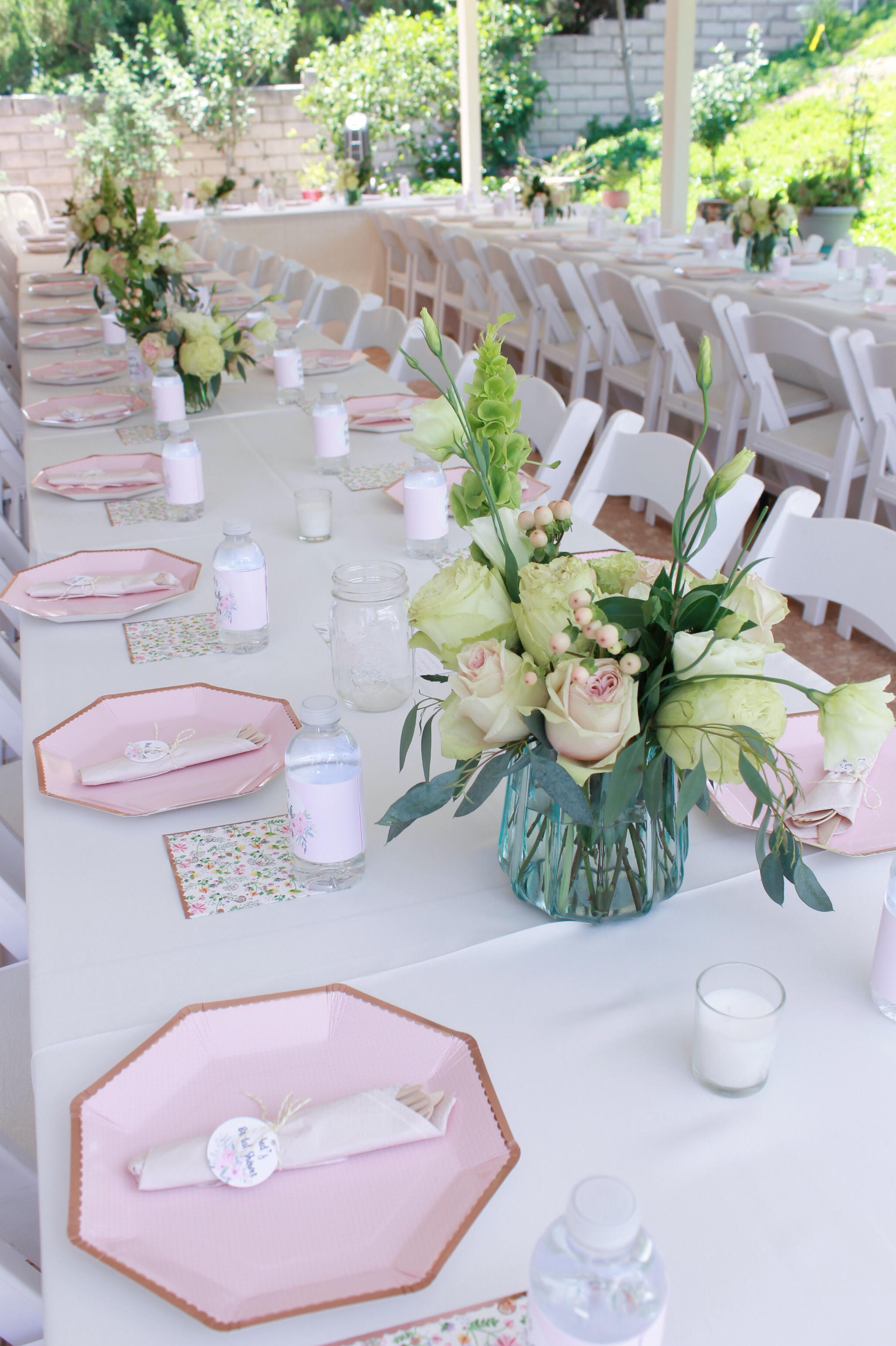 bridal shower tablescape ideas-tablescape-table setting-garden bridal shower-www.SugarPartiesla.com.jpg