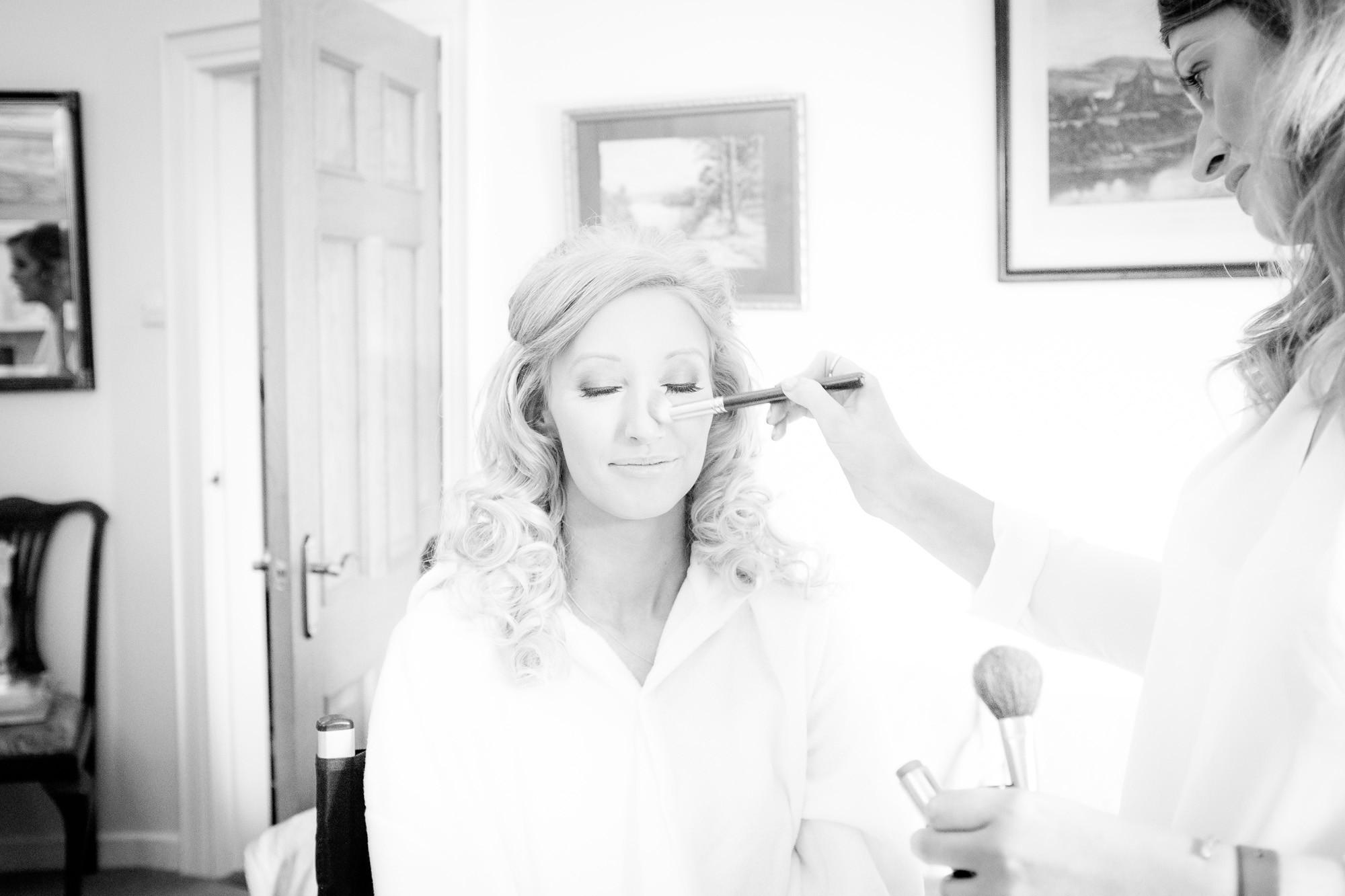 Lauren Montgomery makeup Slieve Donard Resort & Spa Wedding Photography