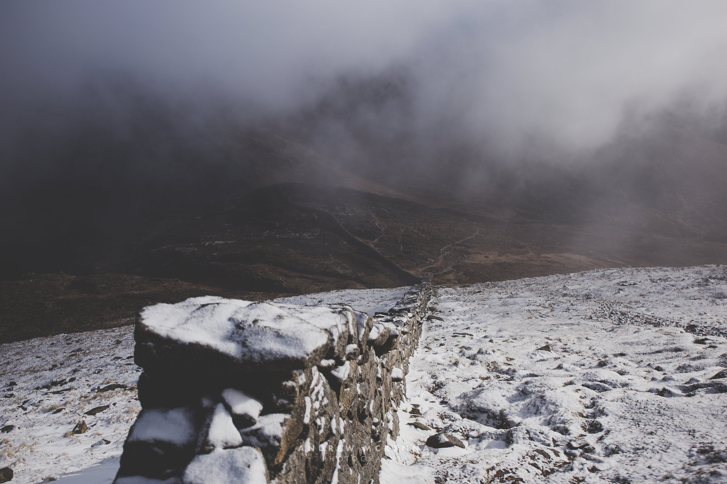 Snow Slieve Bearnagh Mourne Mountains Andrew McKenna Photography