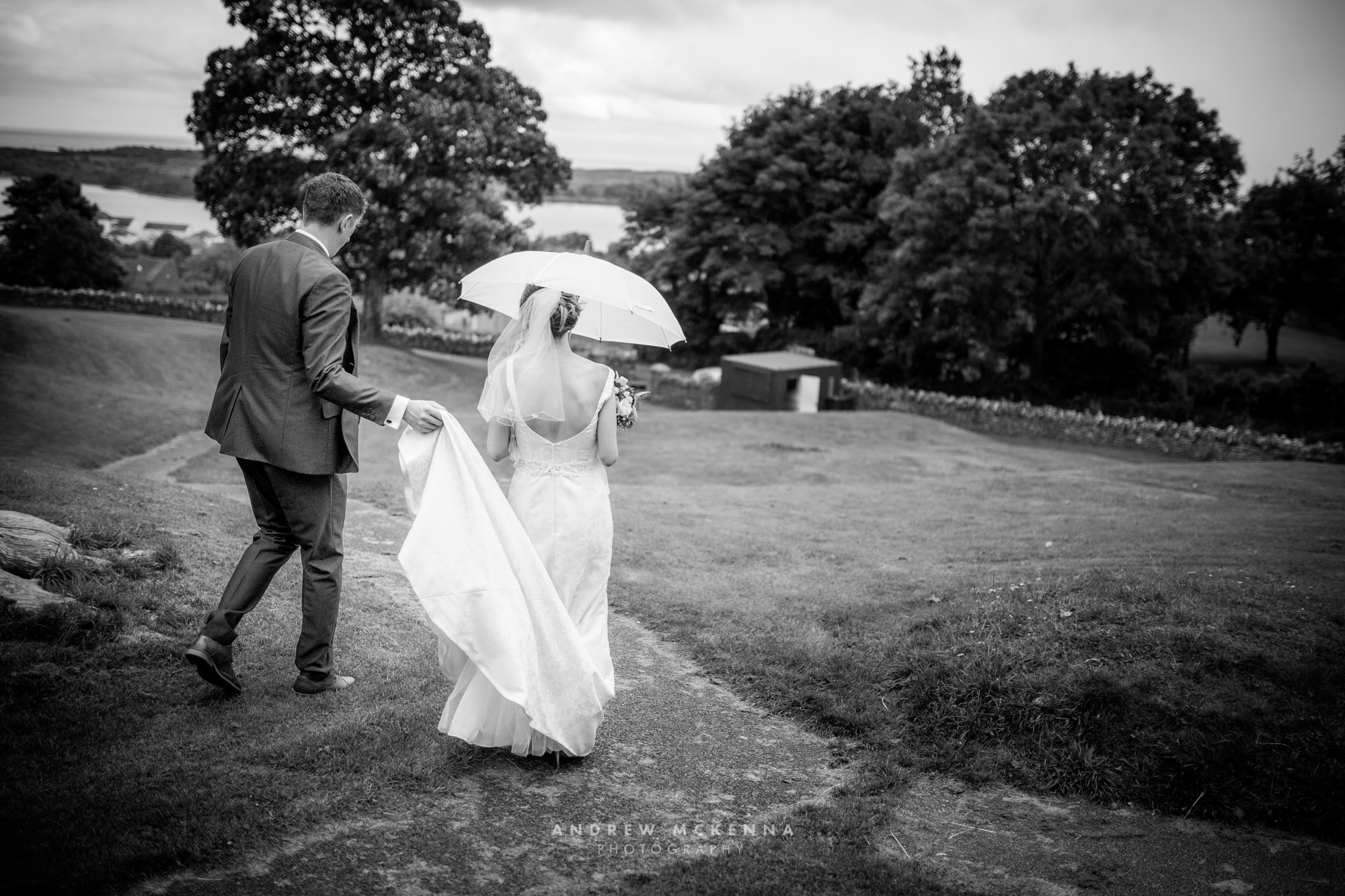 Wedding Photography. The Mill At Ballyduggan. Dundrum Castle Photographer By Andrew McKenna Photography Newcastle County Down, Northern Ireland.