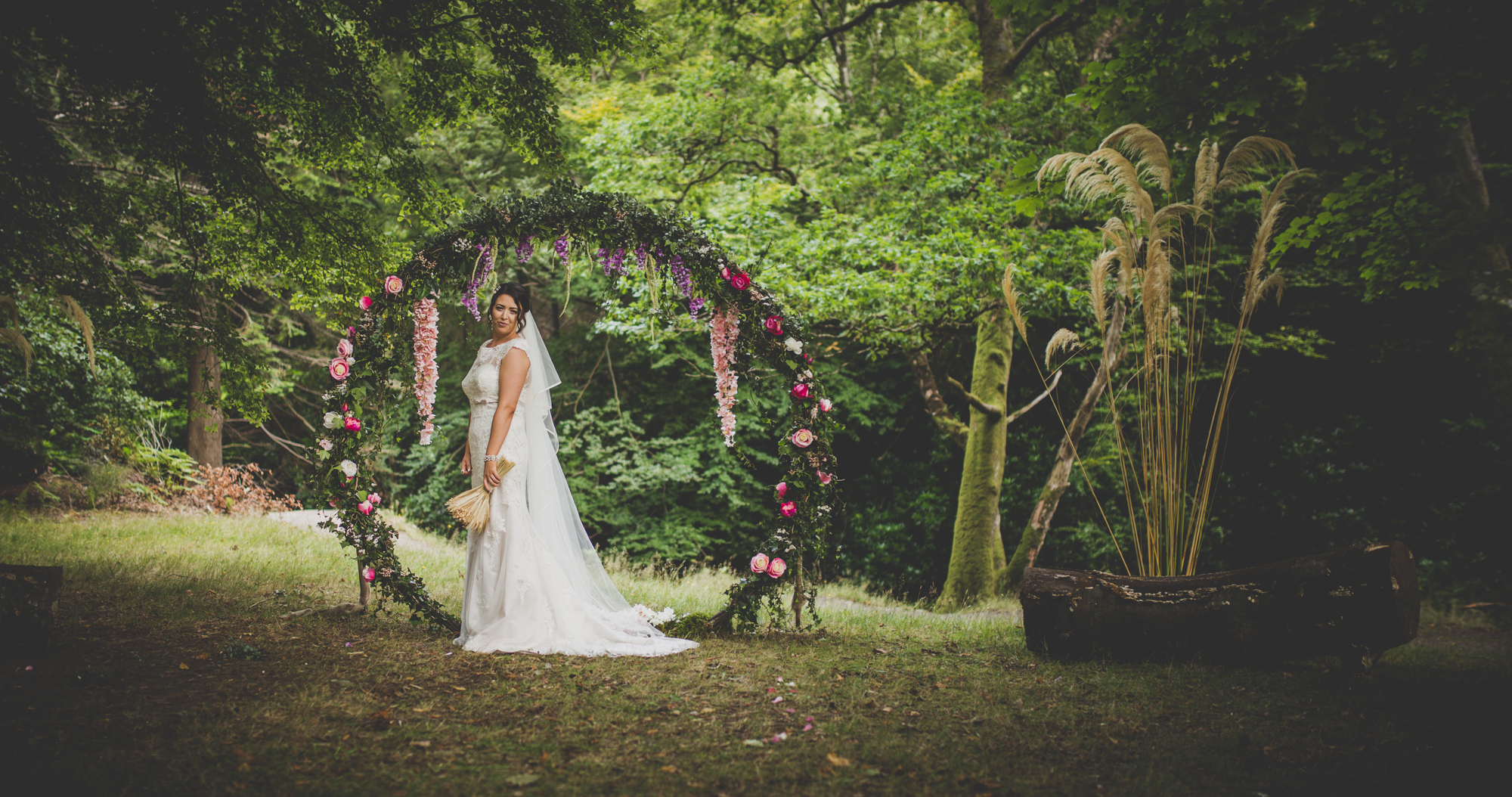 Laura Marie & Ross - Tollymore Forest Park Outdoor Wedding, Photo By Andrew McKenna Photography Newcastle County Down, Northern Ireland. Wedding Hugh McCann's Newcastle