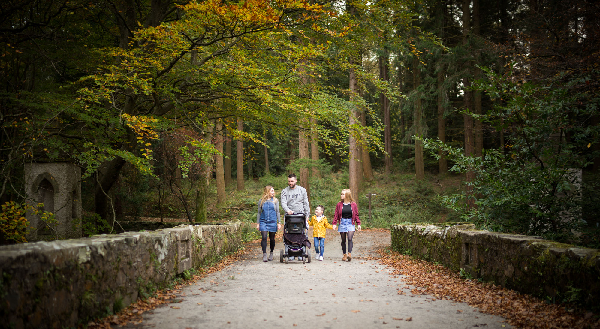 Family Photo shoot Autumn & Winter Photography Tollymore Forest Park