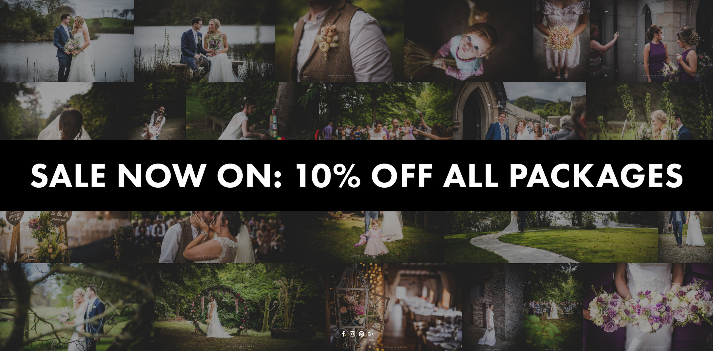 Wedding photography sale now on.