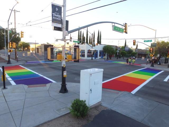Rainbow Crosswalk TucsonAZ 8-2017 3.jpg