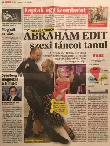 Ábrahám Edit tangó tanulásra a Tango Studio Budapest tanfolyamát választotta. -
