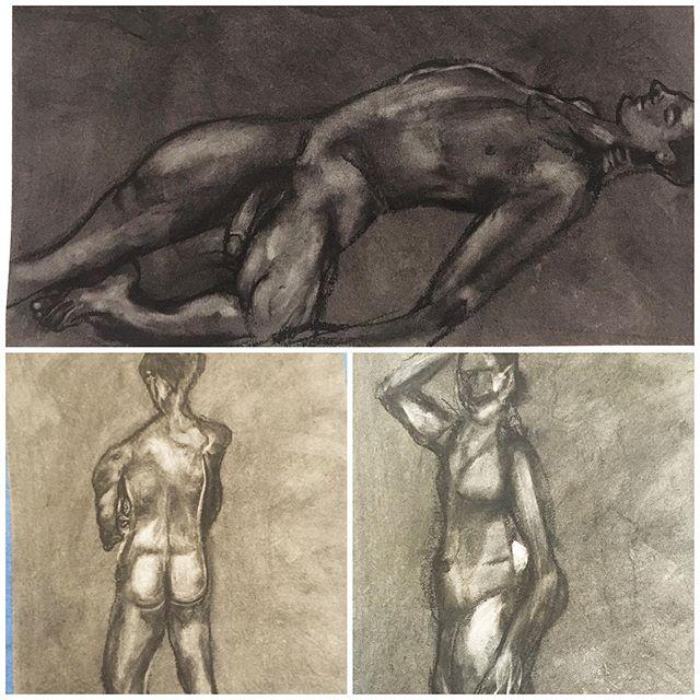 Figure drawing practice 🚶🏽♂️🕺🏼✏️ ✍️#chiaroscuro