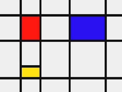 A Minimalist Painting by Piet Mondrian