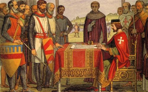 King John puts his seal on the Magna Carta