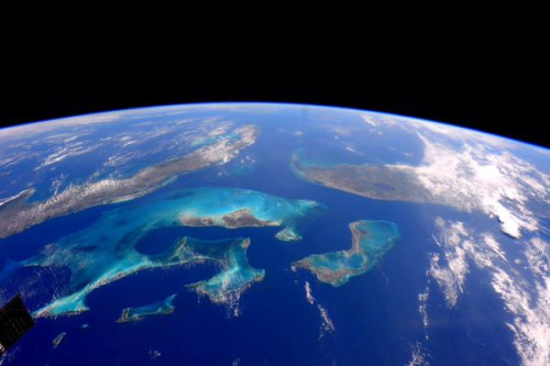 """Florida, Cuba and the Bahamas from Space   This is a beautiful picture from space, via the  canadian-space-agency . It is the harbinger for my newest column–with the working title """"Is the value-added tax really regressive?""""–which should come out sometime this morning.     South #Florida, #Cuba, #Bahamas. From my view, the most beautiful and colorful waters and reefs in the world. April 27, 2015.  Credit: NASA Astronaut Terry Virts' Twitter Account"""