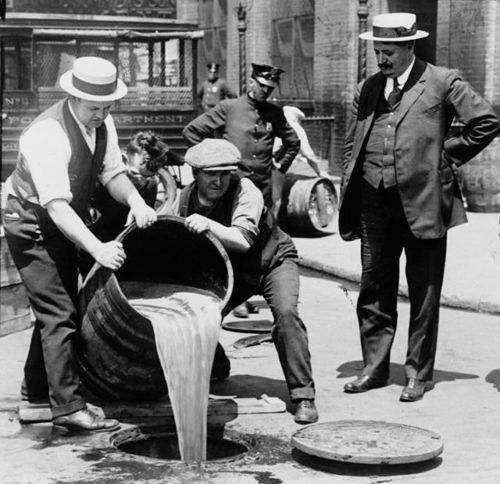 """Link to the Wikipedia article """"Prohibition in the United States"""""""
