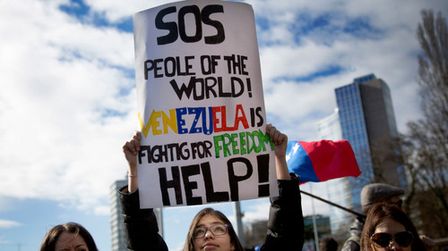 """Image from """"Venezuela's March 8 Protests""""by Brian Ries"""
