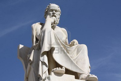 Statue of Socrates outside the Academy of Athens