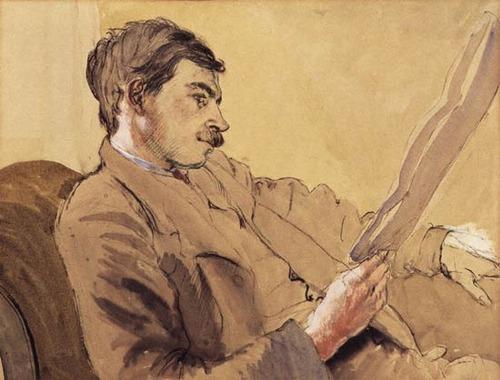 Portrait of John Maynard Keynes by Gwendolen Revarat