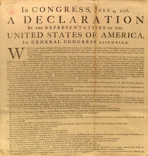 Washington's Personal Copy of the Declaration of Independence
