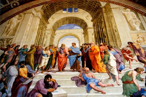 "Raphael's painting ""The School of Athens"""