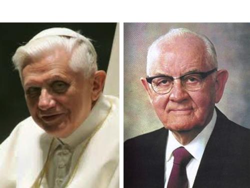 Pope Benedict XVI ; Spencer Woolley Kimball