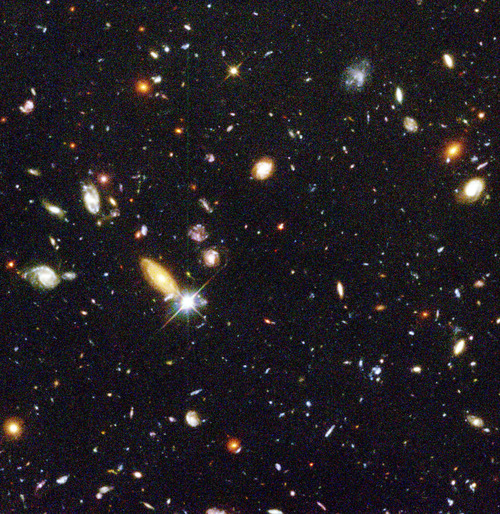 Deep field image from the Hubble space telescope
