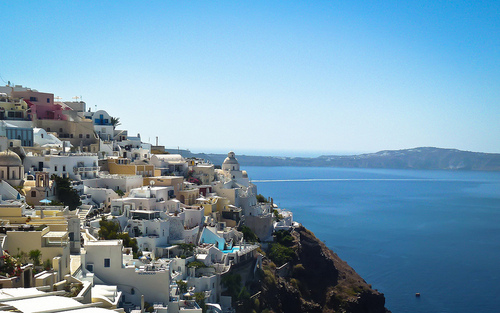 View from the Greek island of Santorini