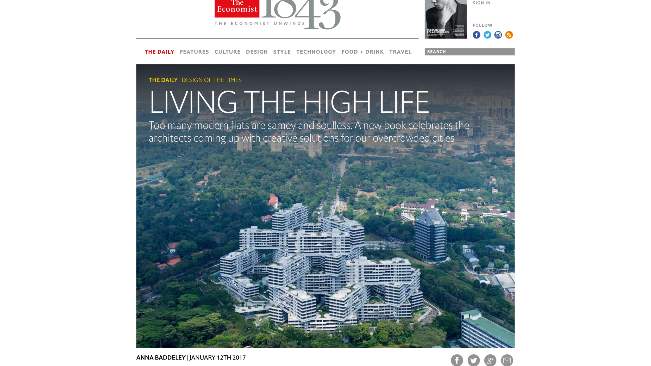 """Link to   Anna Baddeley's January 12, 2017 Economist article """"Living the High Life"""""""