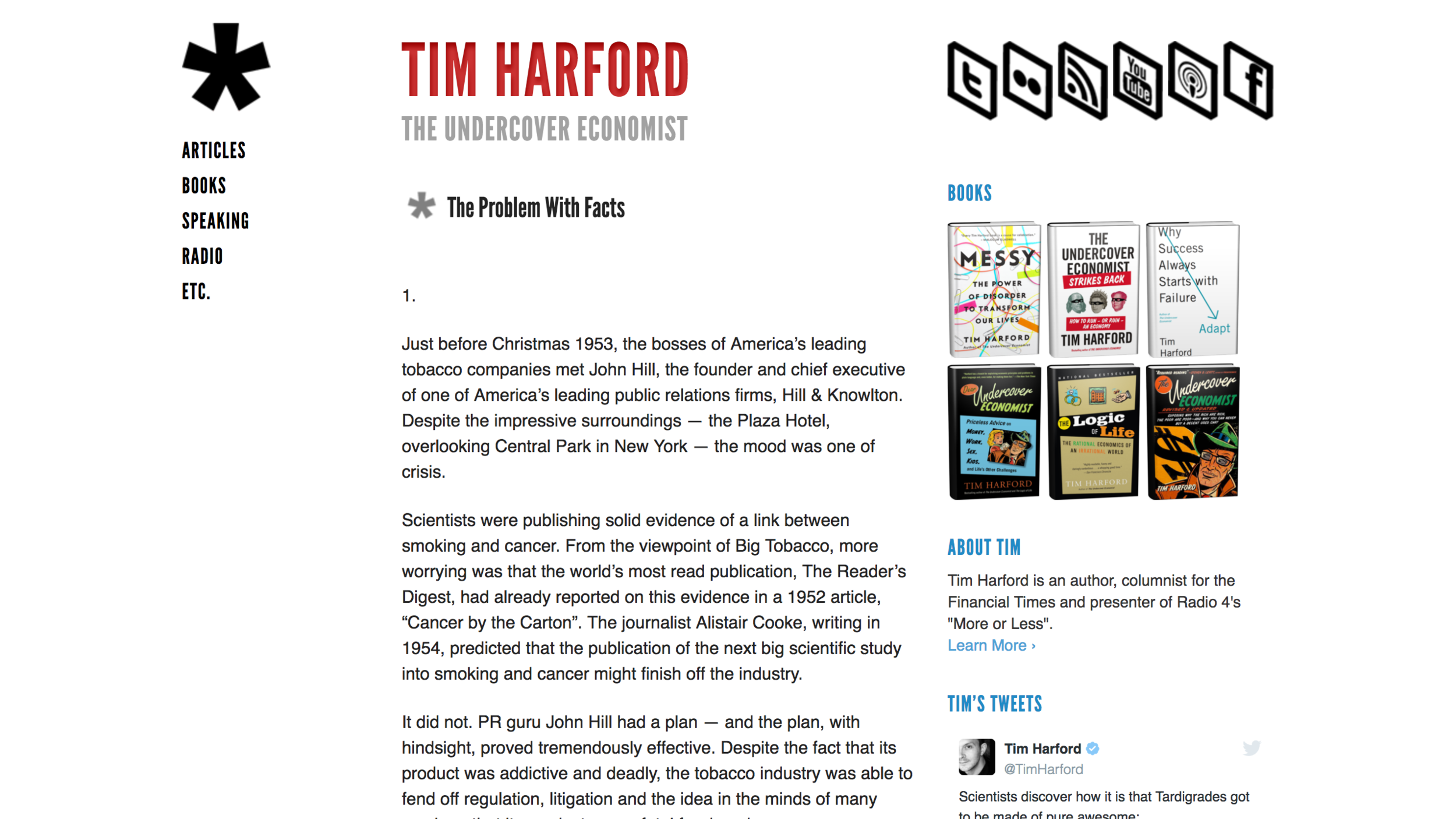 """Link to Tim Harford's post """"The Problem With Facts"""""""