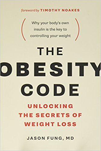 "Link to the Amazon page for The Obesity Code   Note the cover's tagline ""Why your body's own insulin is the key to controlling your weight."""