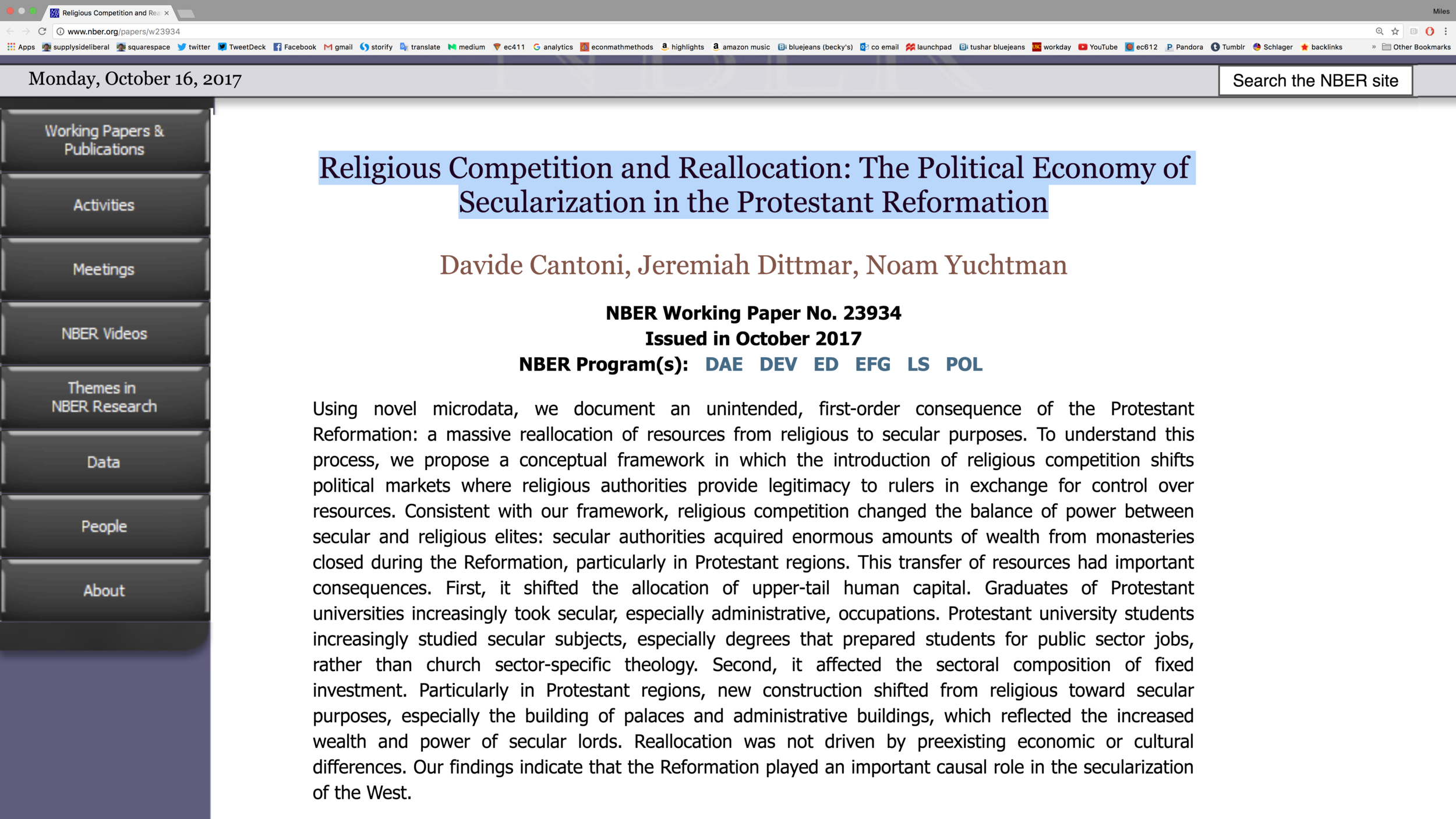 LInk to the abstract above on the NBER website