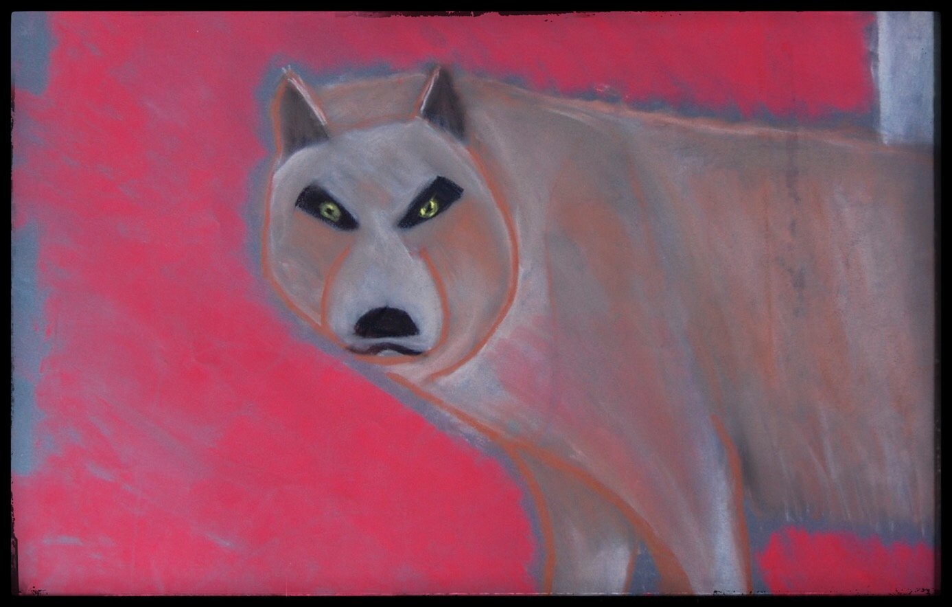 """Wolf,"" by Spencer Miles Kimball, 2008    If you want to use this image for any purpose, you need to include a link back to  www.resilienceconspiracy.com , where  the original of this post  can be found."