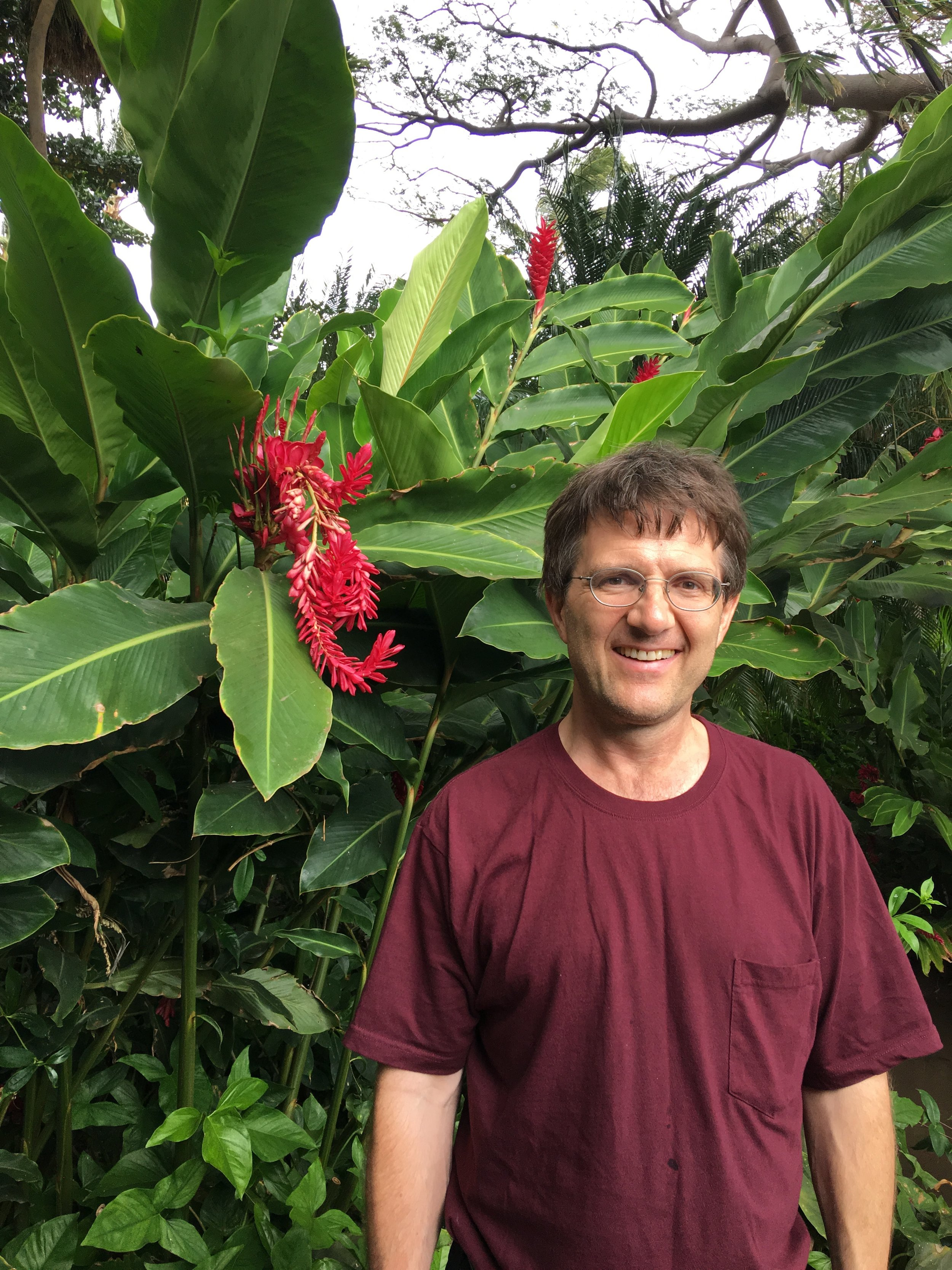 Miles Kimball in Maui, November 2017—1/3 of a century wedding anniversary trip. Photo by Gail Kimball. See Gail's guest posts    here    and    here   .